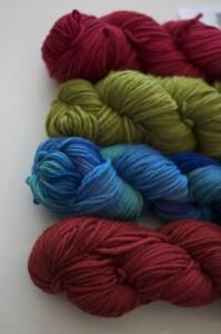 Hanks of yarn