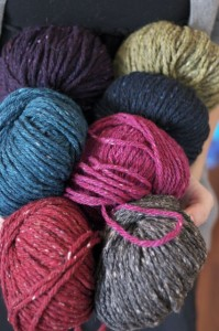 Skeins of yarn