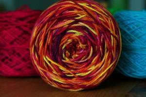 A cake of yarn