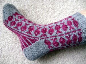 Swedish Fish Socks by Spilly Jane